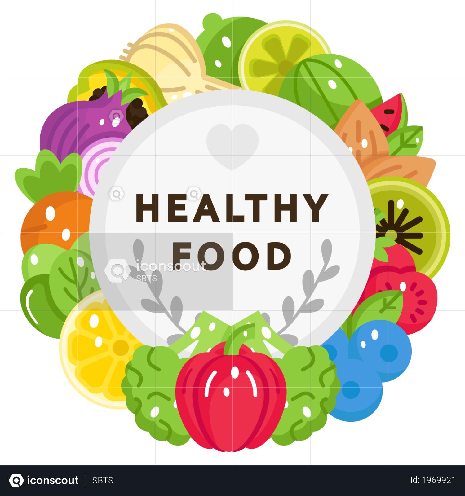 Premium Healthy Food Illustration Download In Png Vector Format