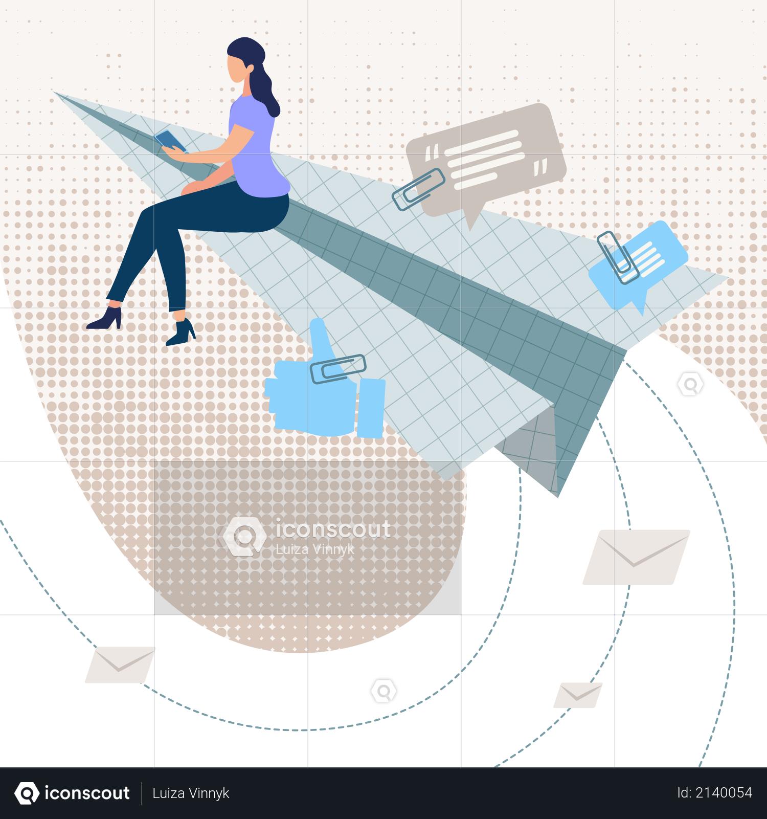 Informational Banner Online Response Application Illustration