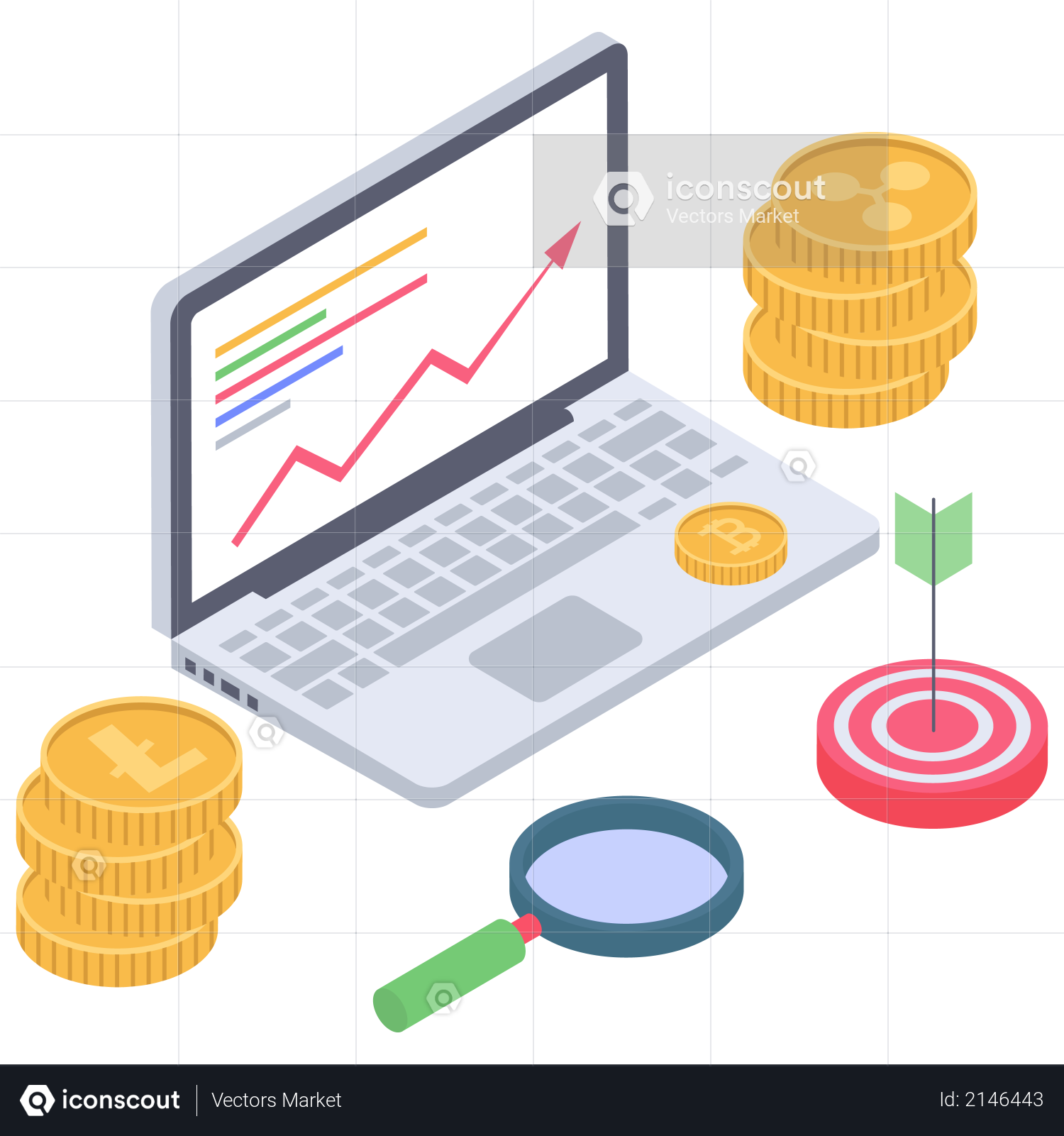 Investment in Cryptocurrency Illustration