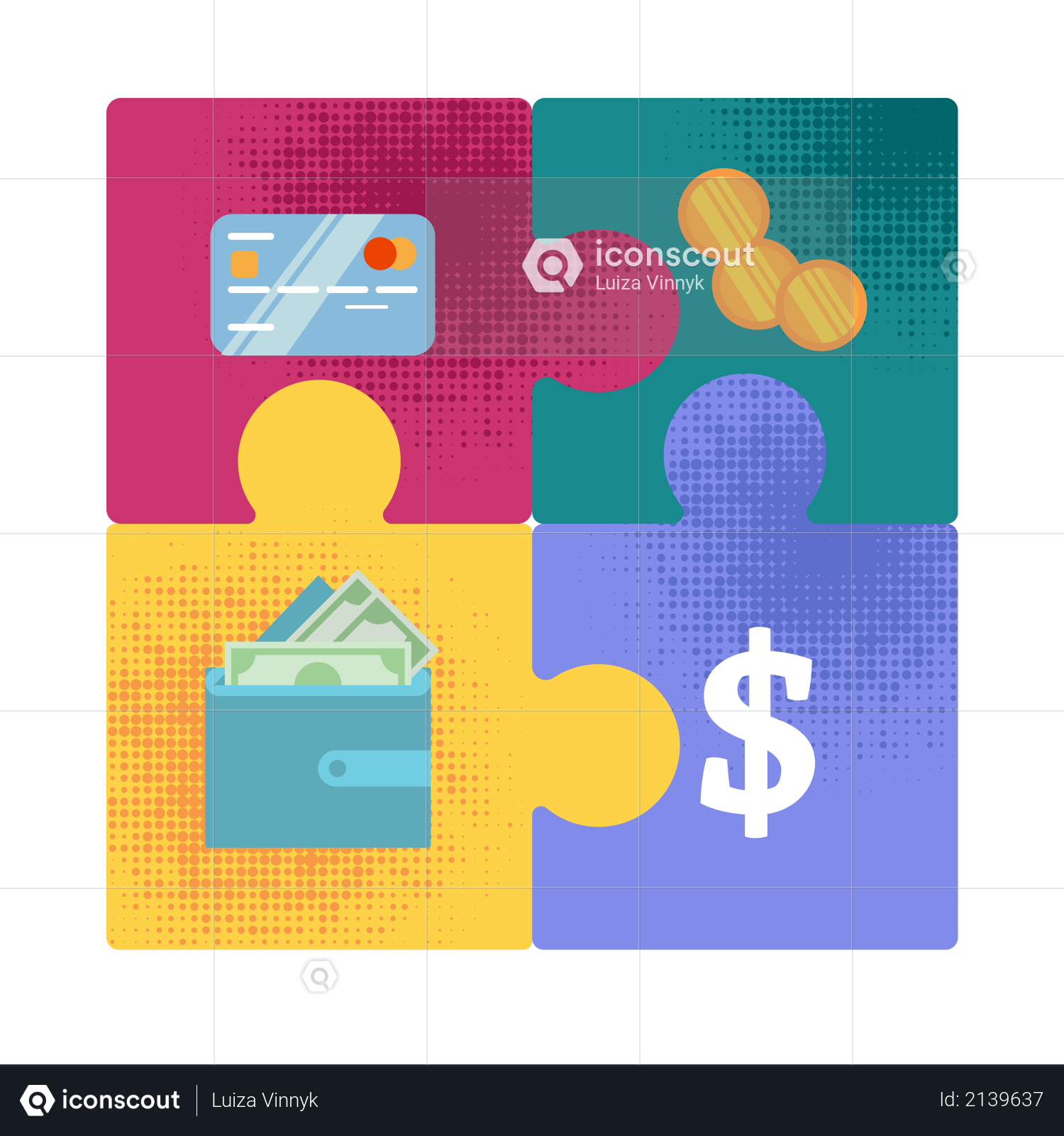 Premium Money Forms Evolution from Golden Coins to Digital Capital Flat Vector Concept with Four ...