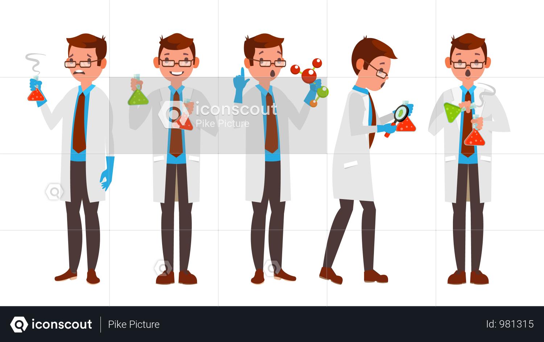 premium scientist character illustration download in png vector format premium scientist character illustration download in png vector format