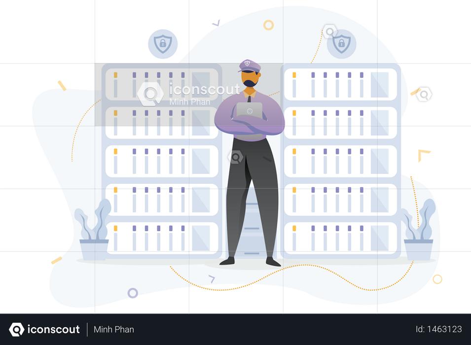 Secure Helpdesk Illustration