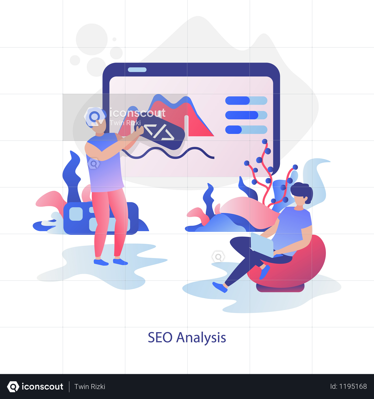 SEO analysis Illustration