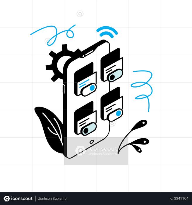 Setting App Illustration