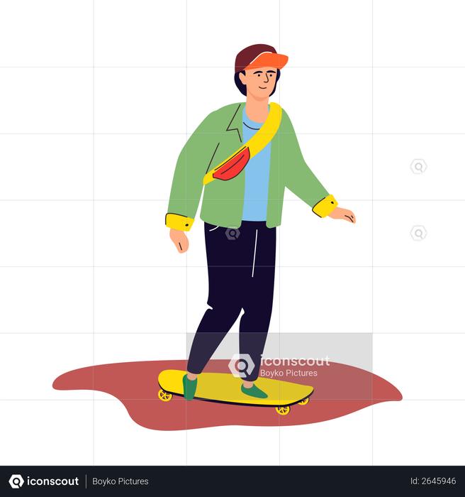 Skateboarding Illustration