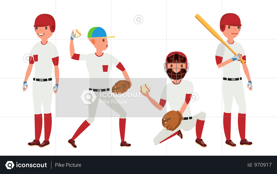 Sport Baseball Player Illustration