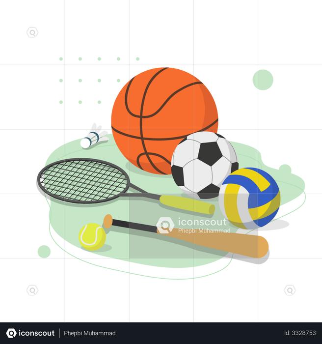 Sport Study Illustration