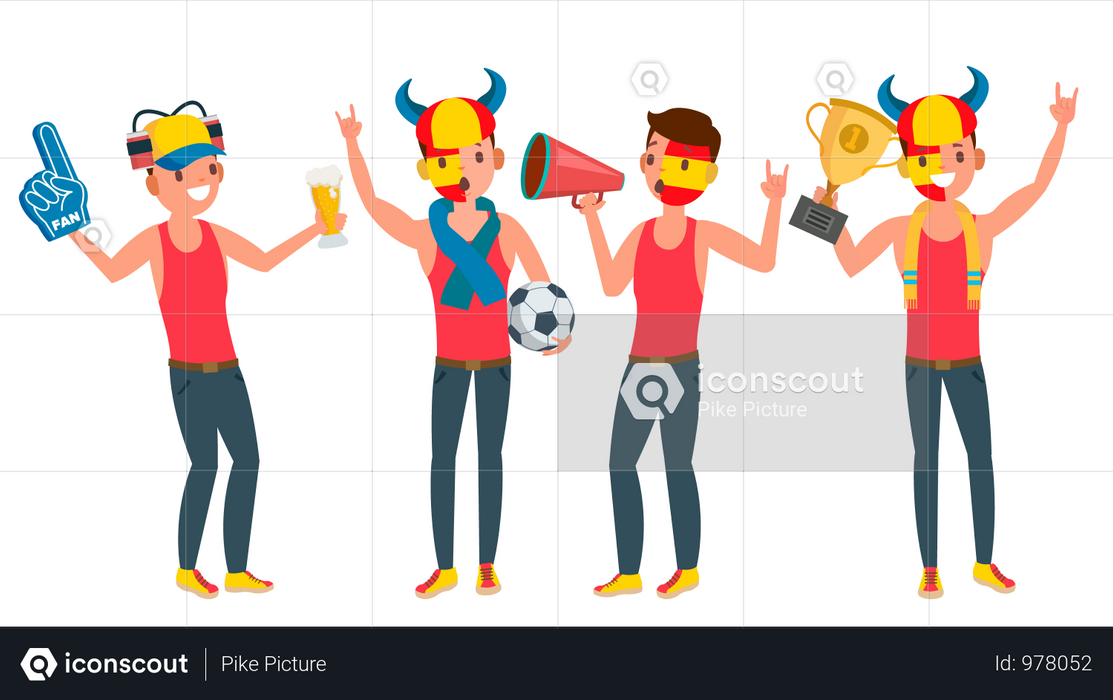 Sports Supporting Team Illustration