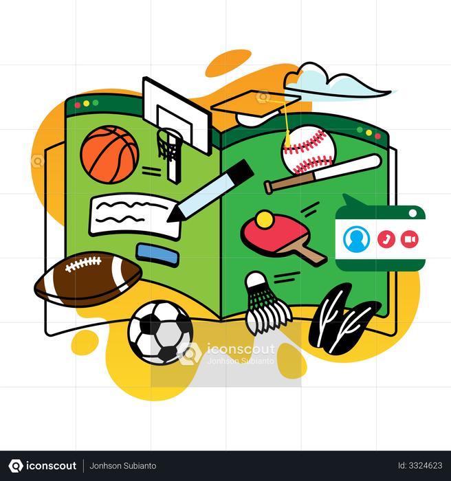 Study sports Illustration