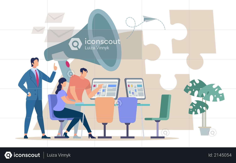 Team Management Illustration