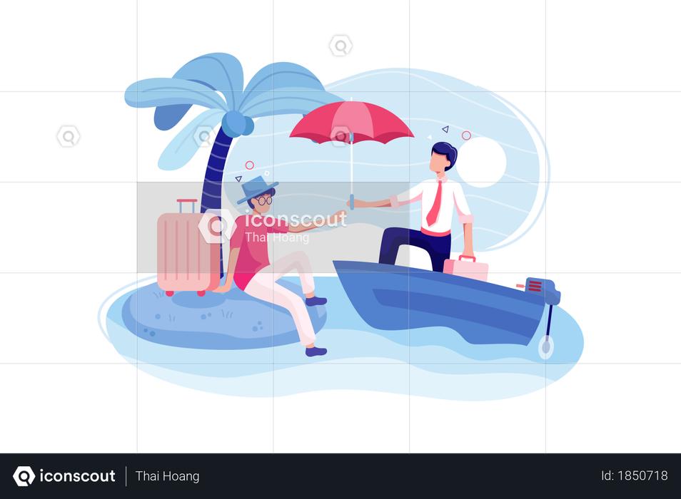 Travel Insurance concept Illustration