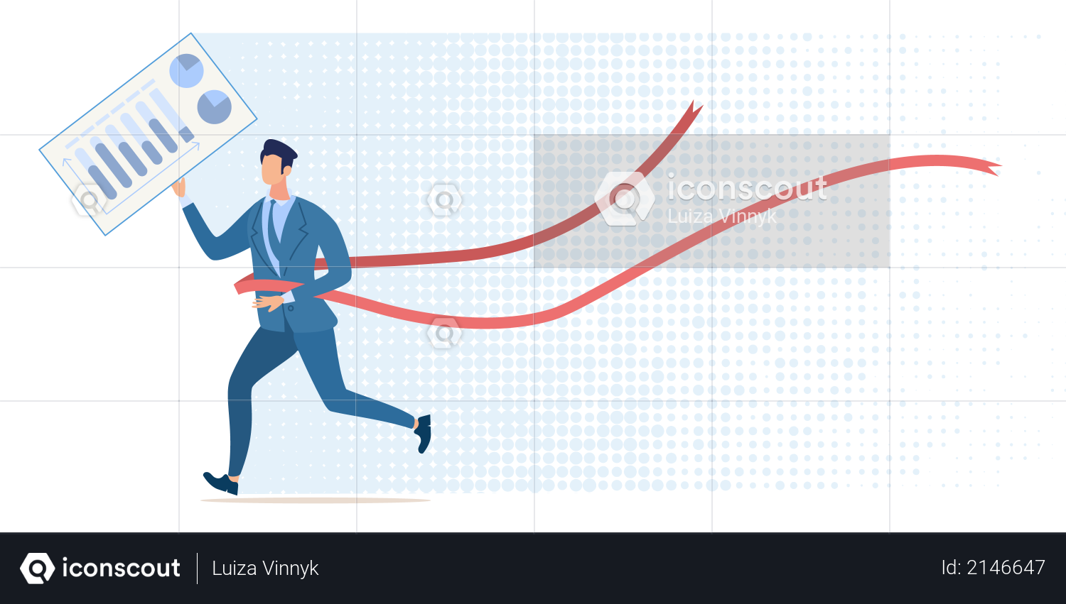Victory in Financial Competition Illustration