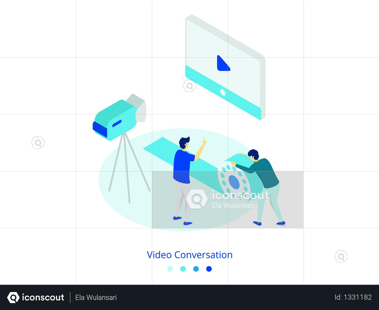 Video Conversation concept Illustration