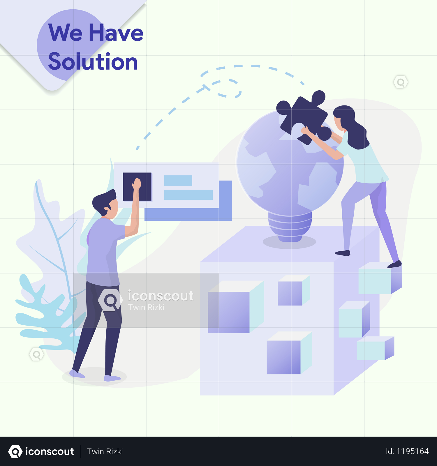 We Have a Solution Illustration