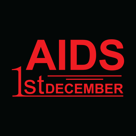1st December World Aids Day Illustration Concept With Aids Awareness .Poster Or Banner Template. Illustration