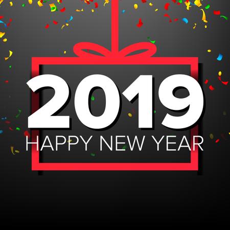 2019 Happy New Year Background Illustration