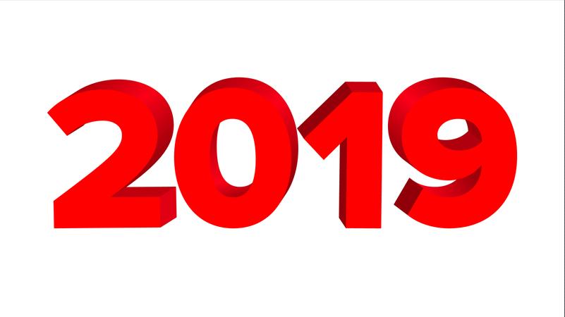 2019 Sign Vector Illustration