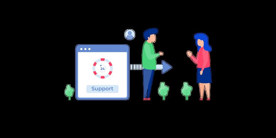24 hour customer support Illustration