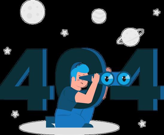 404 Error Illustration