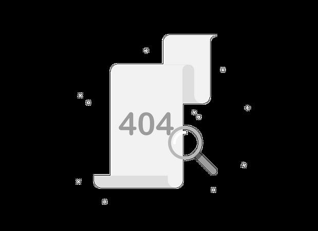 404 error in document Illustration
