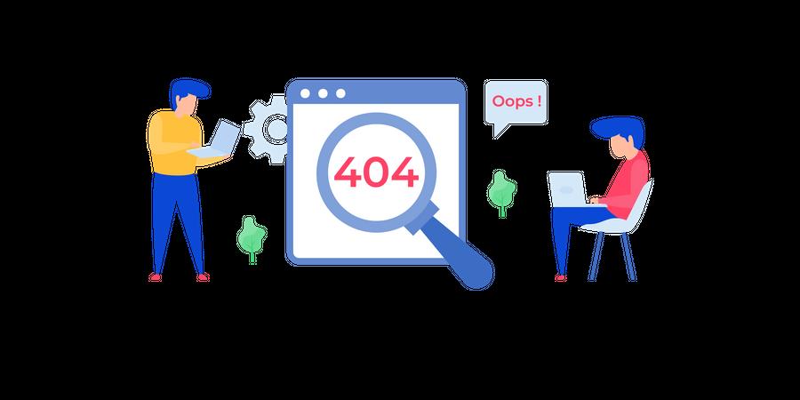 404 error in web page Illustration