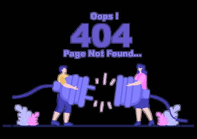 404 Error message Illustration