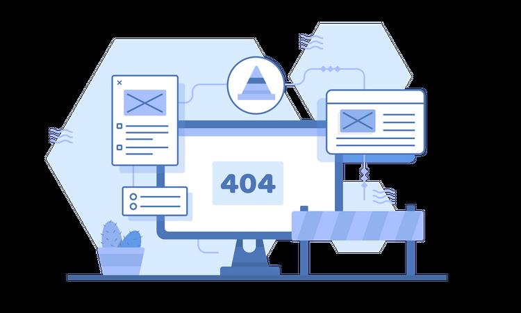 404 not found Illustration