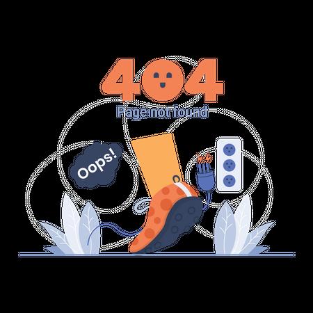 404 page error Illustration