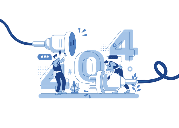404 webpage Illustration