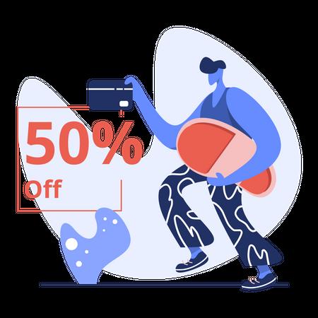 50% off sale on black friday Illustration