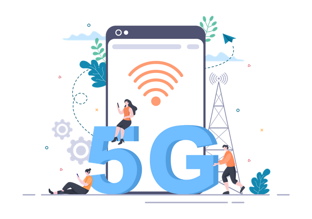5G Smartphone Illustration