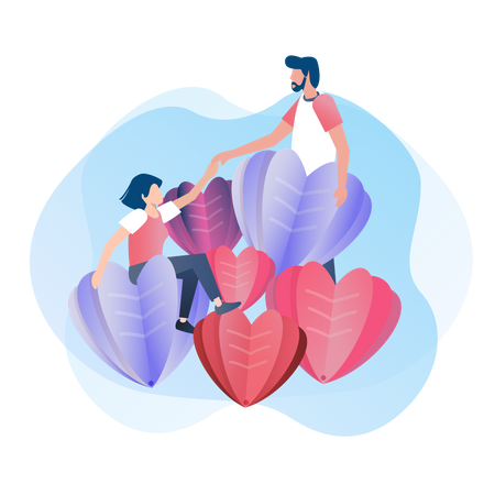 A couple who is in love Illustration