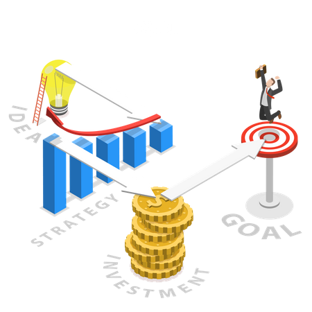 A way to the goal Illustration
