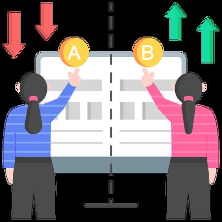 AB testing Illustration