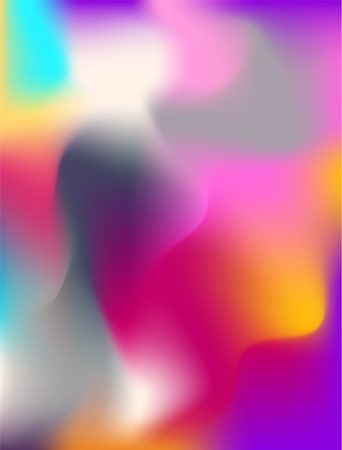 Abstract  background liquid lava lamp pattern. Colorful shapes on white Illustration