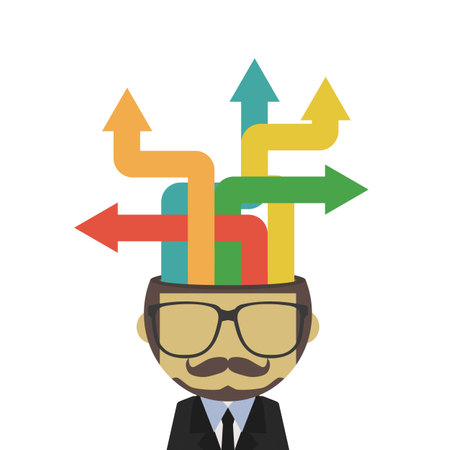 Abstract Business Man With Arrow, Business Concept