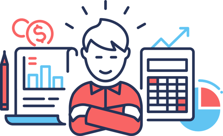 Account manager Illustration