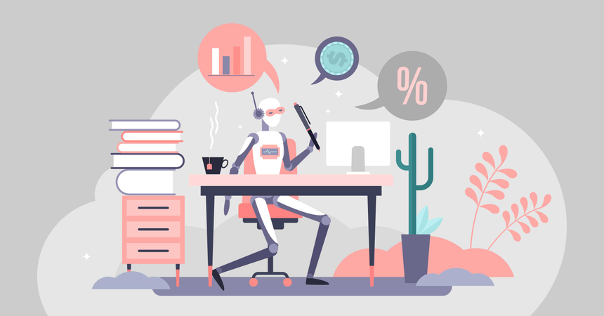 Accountant automation Illustration
