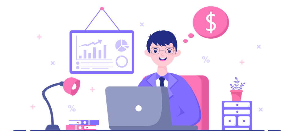 Accounting Manager Illustration