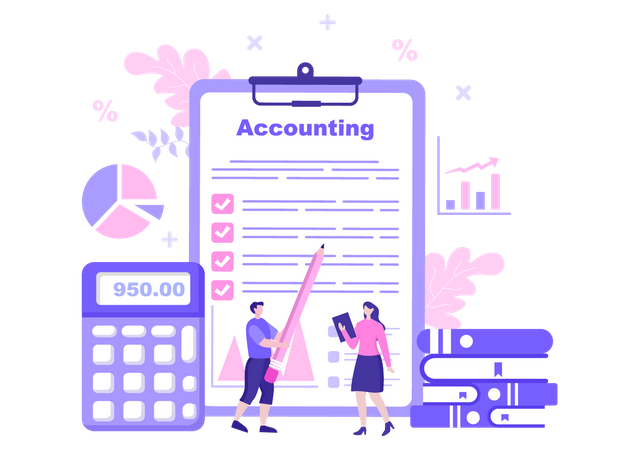 Accounting rules clipboard Illustration