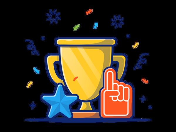 Achievement Trophy Illustration