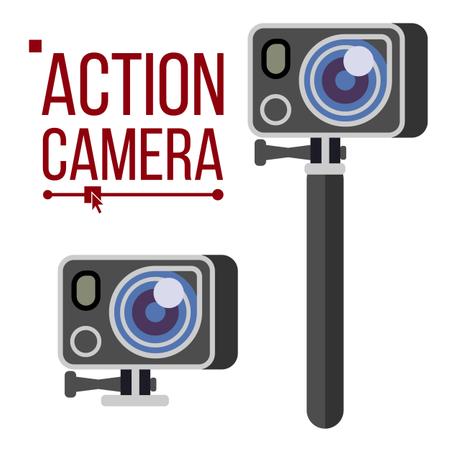 Action Camera Illustration