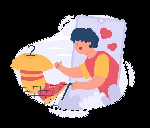 Add To Cart Illustration