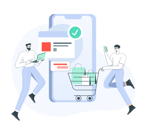 Add to cart successfully Illustration
