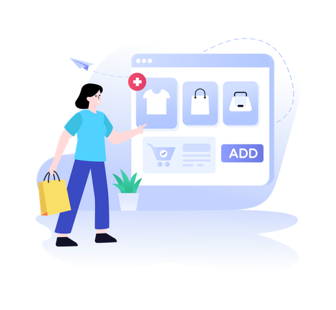 Add to Shopping Cart Illustration