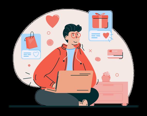 Add to shopping favorite list Illustration