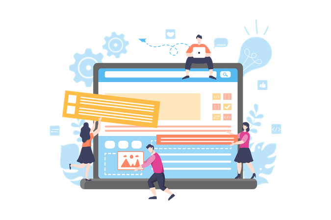 Adding Content to the site Illustration