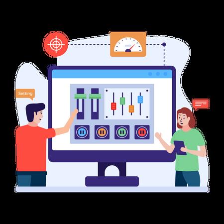 Admin control panel Illustration