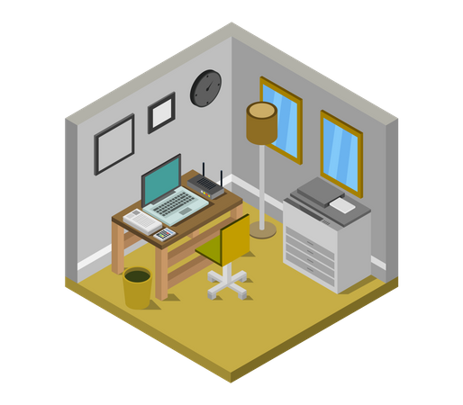 Administration office Illustration