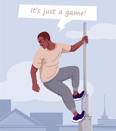 Adrenaline dependence Illustration